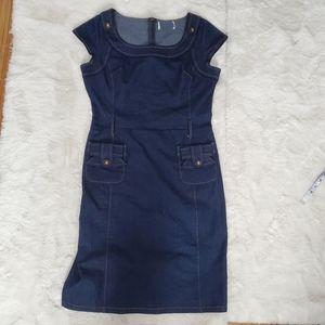 5/$30 Vero Moda Dark Denim Vintage style dress